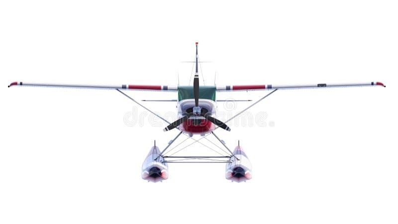 Ejemplo retro del hidroavión 3d rinden stock de ilustración