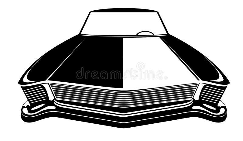 Ejemplo retro del vector del coche del músculo Cartel del vintage del coche del reto ilustración del vector