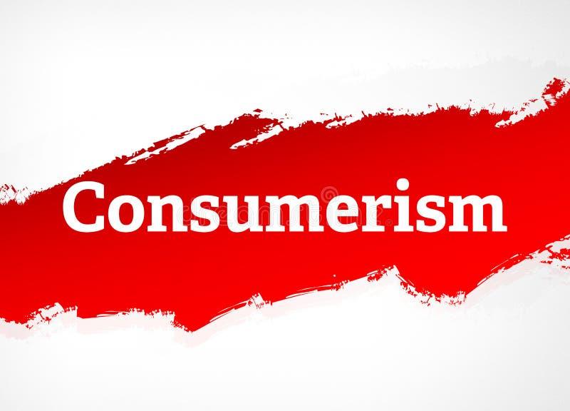Ejemplo rojo del fondo del extracto del cepillo del consumerismo libre illustration