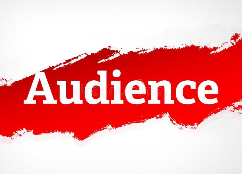Ejemplo rojo del fondo del extracto del cepillo de la audiencia stock de ilustración