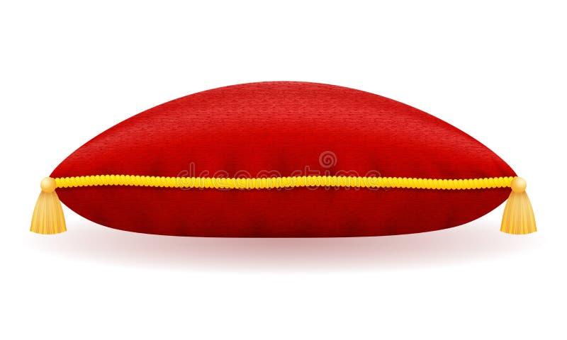 Ejemplo rojo del vector de la almohada del terciopelo libre illustration