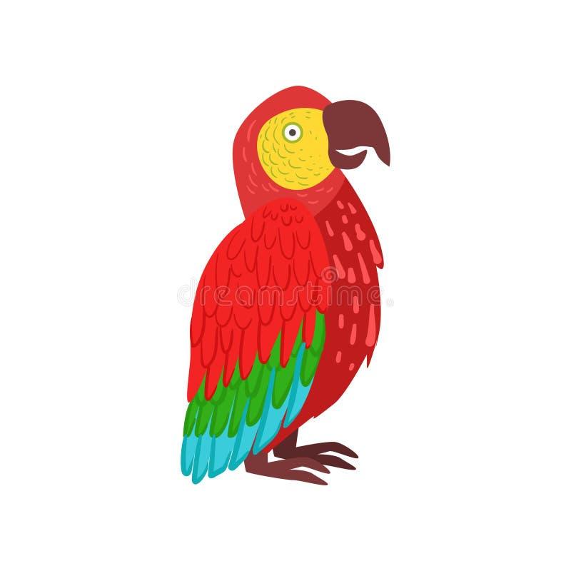 Ejemplo rojo del vector del loro del macaw libre illustration