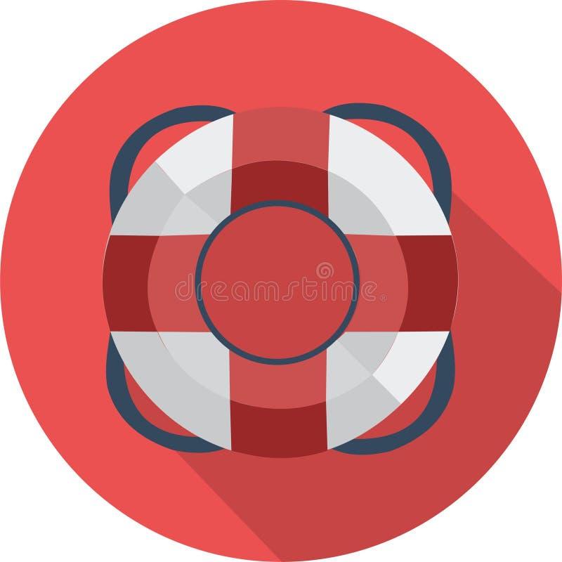 Ejemplo rojo del vector del negocio del lifebuoyicon ilustración del vector