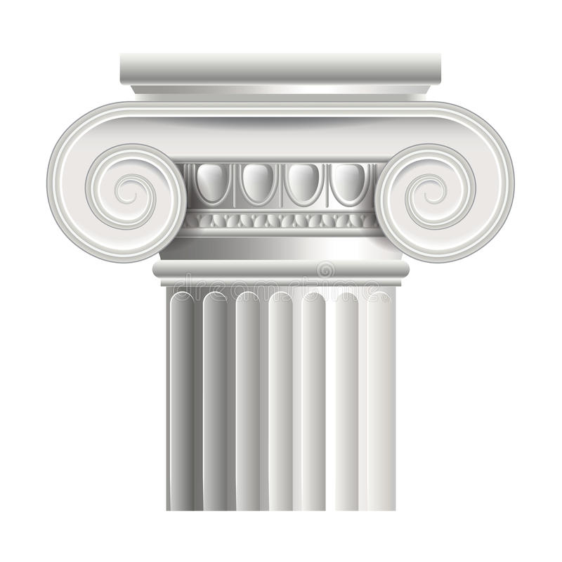 Ejemplo romano o griego del vector de la columna ilustración del vector