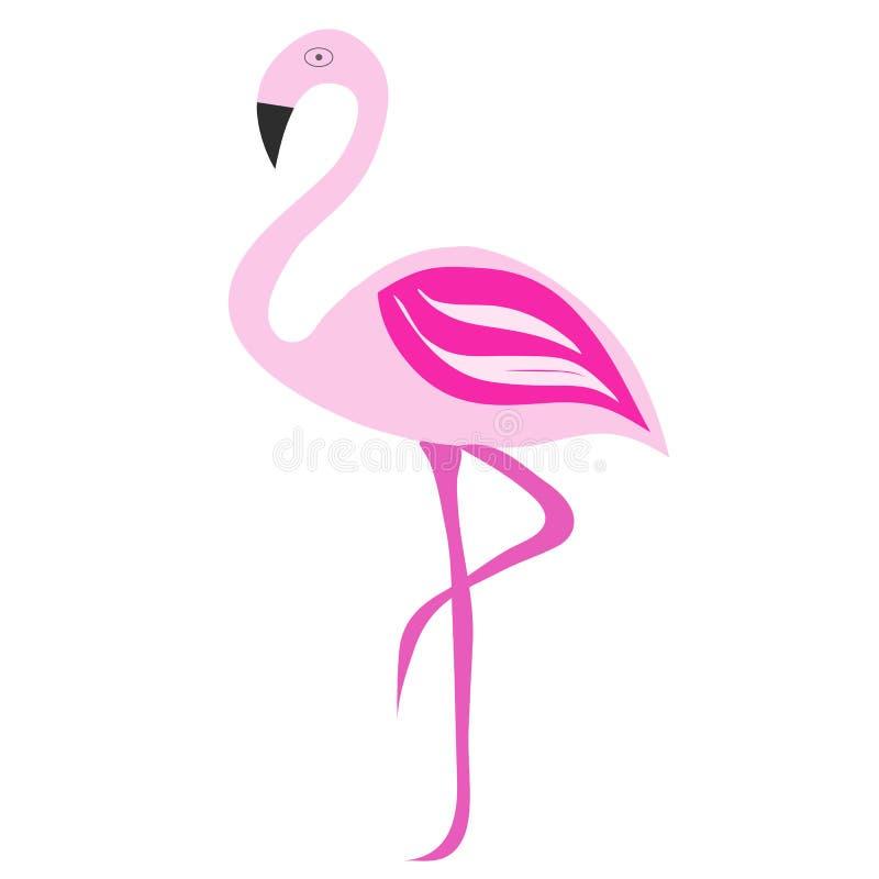 Ejemplo rosado del vector del flamenco stock de ilustración