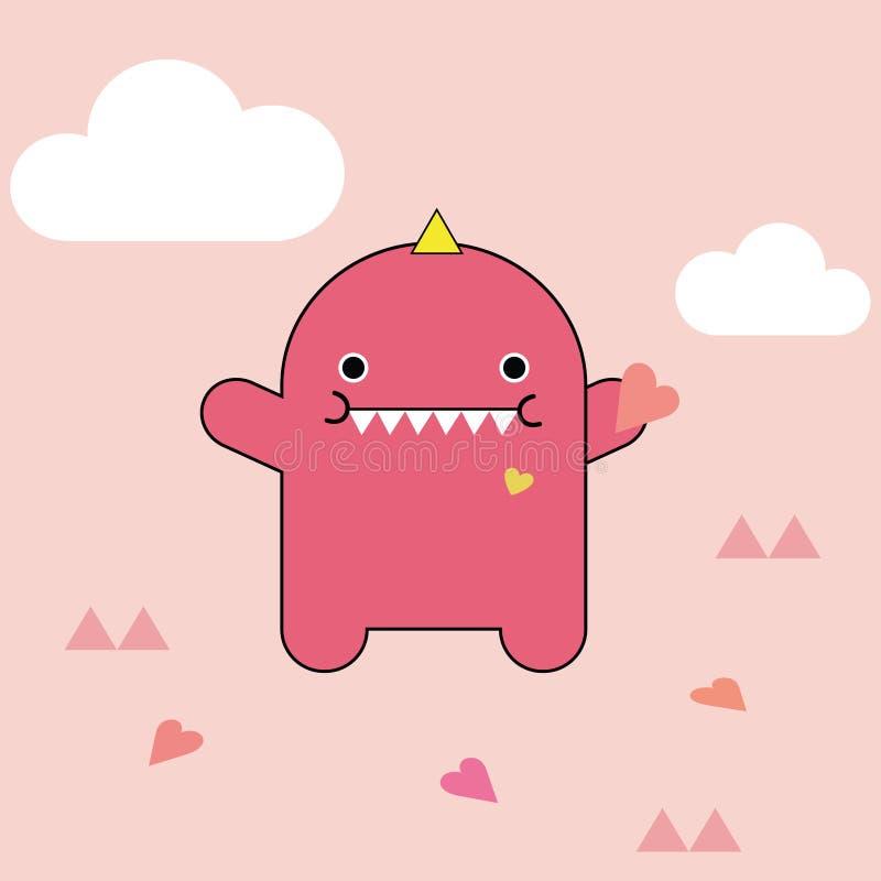 Ejemplo rosado lindo del vector del monstruo libre illustration