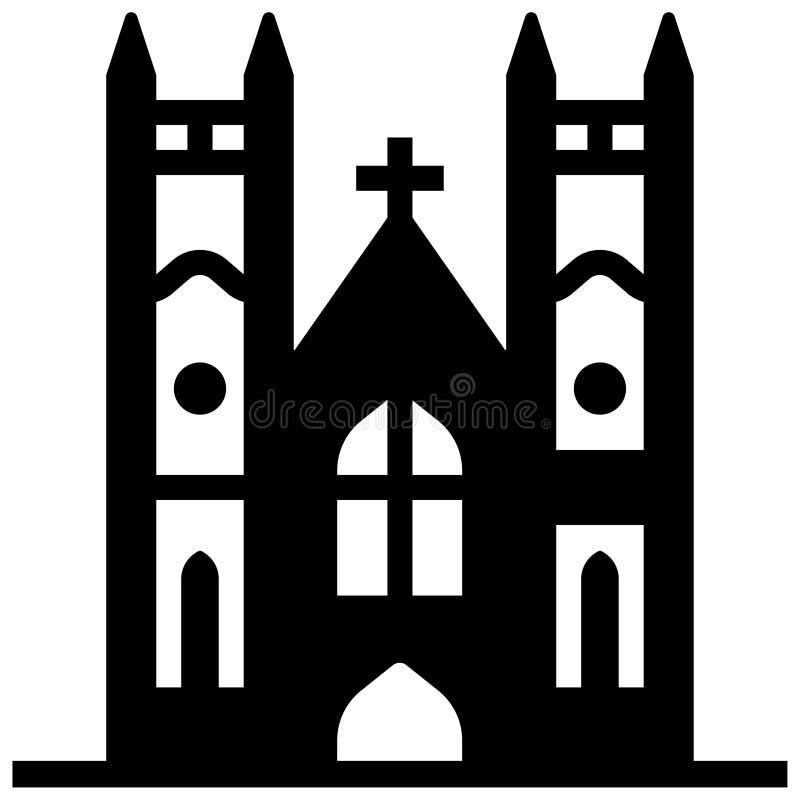 Ejemplo sólido de la abadía de Westminster ilustración del vector