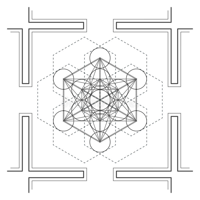 ejemplo sagrado de la geometría de la mandala del vector stock de ilustración