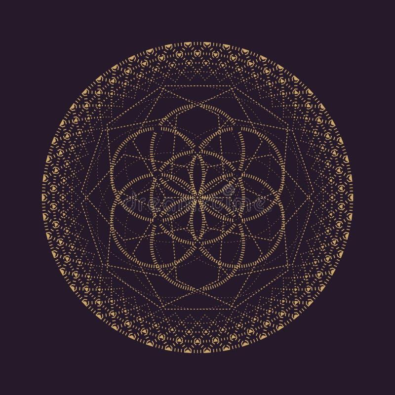 ejemplo sagrado de la geometría de la mandala del vector ilustración del vector