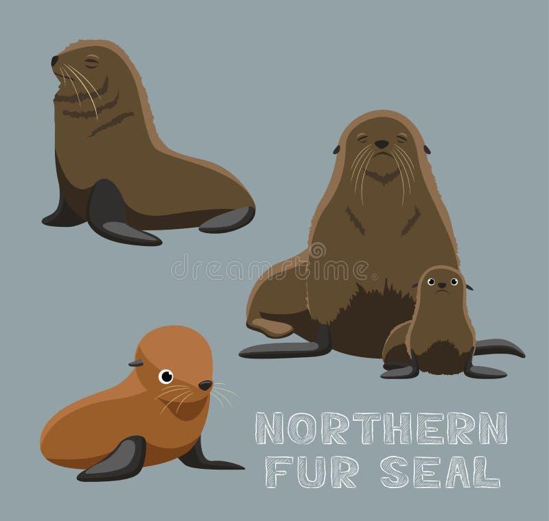 Ejemplo septentrional del vector de la historieta del lobo marino libre illustration