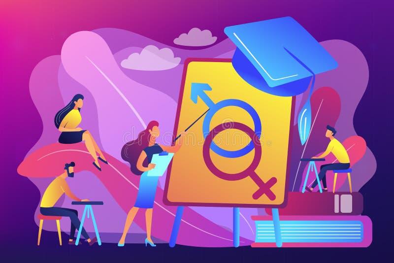 Ejemplo sexual del vector del concepto de la educación libre illustration