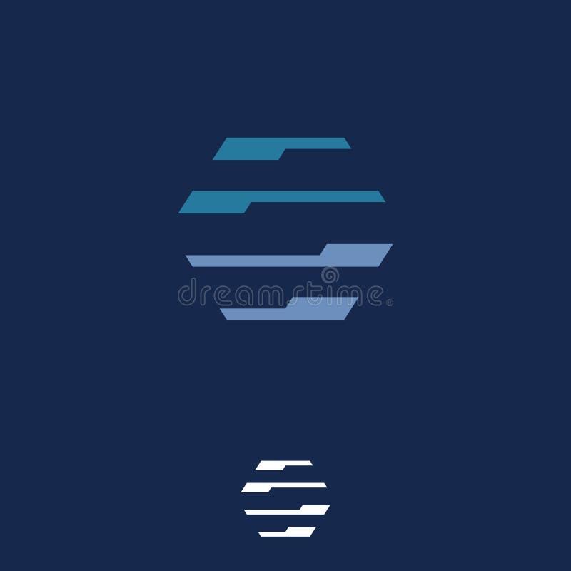 Ejemplo simple del concepto del logotipo del vector del hexágono para su símbolo del negocio ilustración del vector