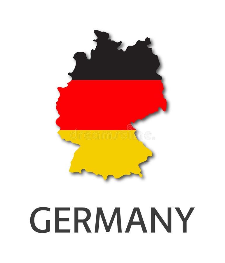 Ejemplo simple del estado de Alemania en el aspecto de la bandera alemana stock de ilustración