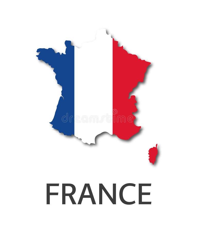 Ejemplo simple del estado de Francia en el aspecto de la bandera francesa stock de ilustración