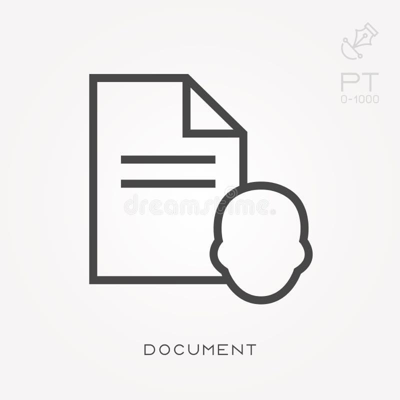Ejemplo simple del vector con capacidad de cambiar L?nea documento del icono libre illustration