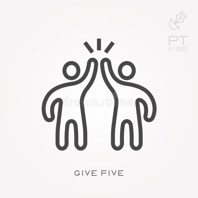 Ejemplo simple del vector con capacidad de cambiar La l?nea icono da cinco libre illustration