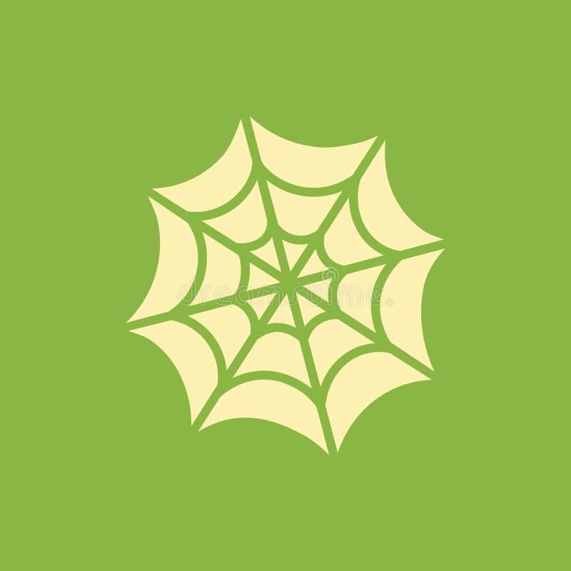 Ejemplo simple del vector con capacidad de cambiar Web de arañas del icono de la silueta stock de ilustración