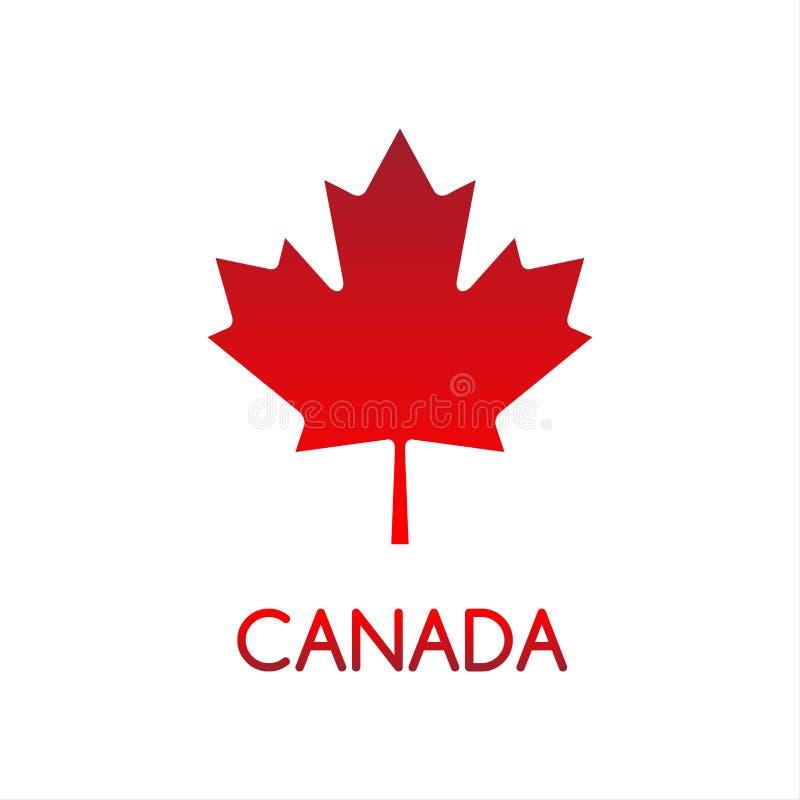 Ejemplo simple del vector de la hoja de arce canadiense ilustración del vector