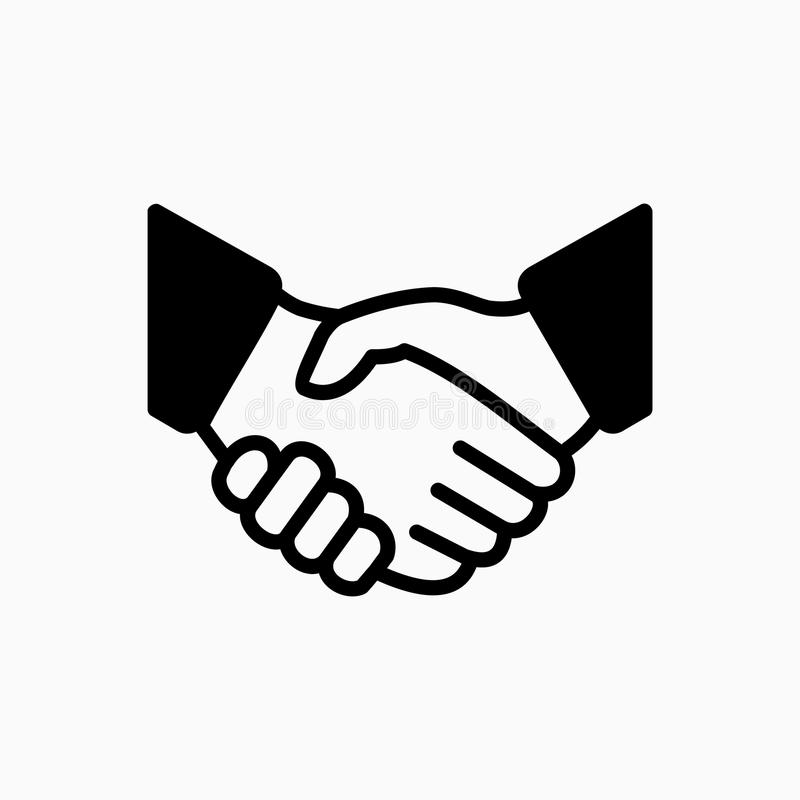 Ejemplo simple del vector del icono del apretón de manos El trato o el socio está de acuerdo ilustración del vector
