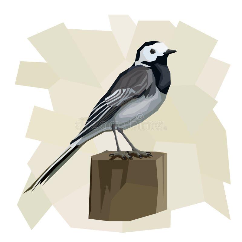 Ejemplo simple del vector del pájaro del aguzanieves ilustración del vector