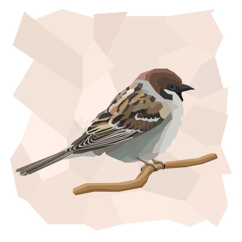 Ejemplo simple del vector del pájaro del gorrión stock de ilustración