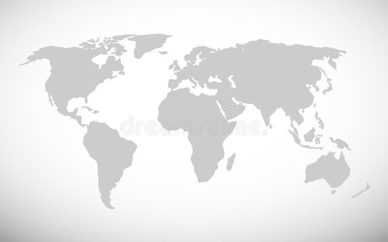 Ejemplo simple del vector del mapa del mundo stock de ilustración