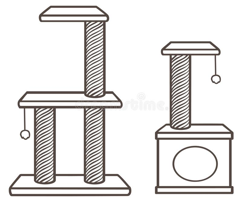 Ejemplo simplificado vector del contorno de Cat Claw Sharpeners libre illustration