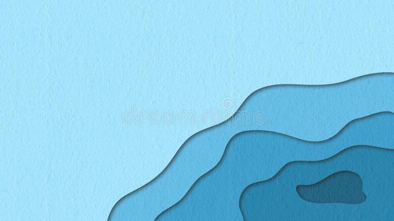 Ejemplo simular de papel cortado para la presentación del negocio ilustración del vector