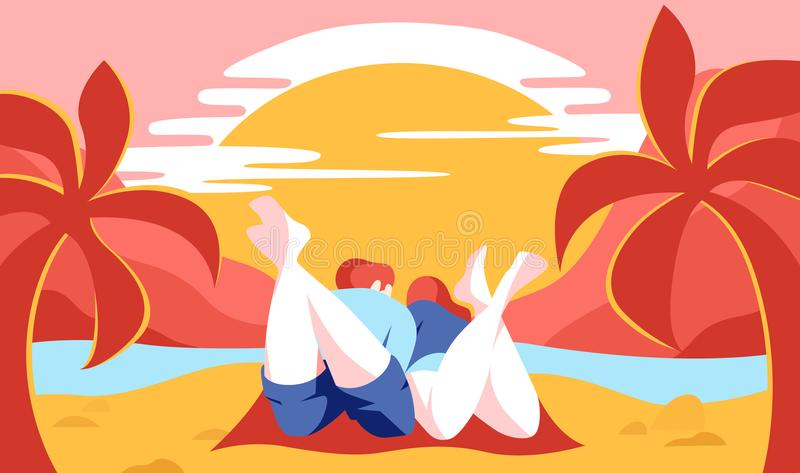 Ejemplo soleado de la playa libre illustration