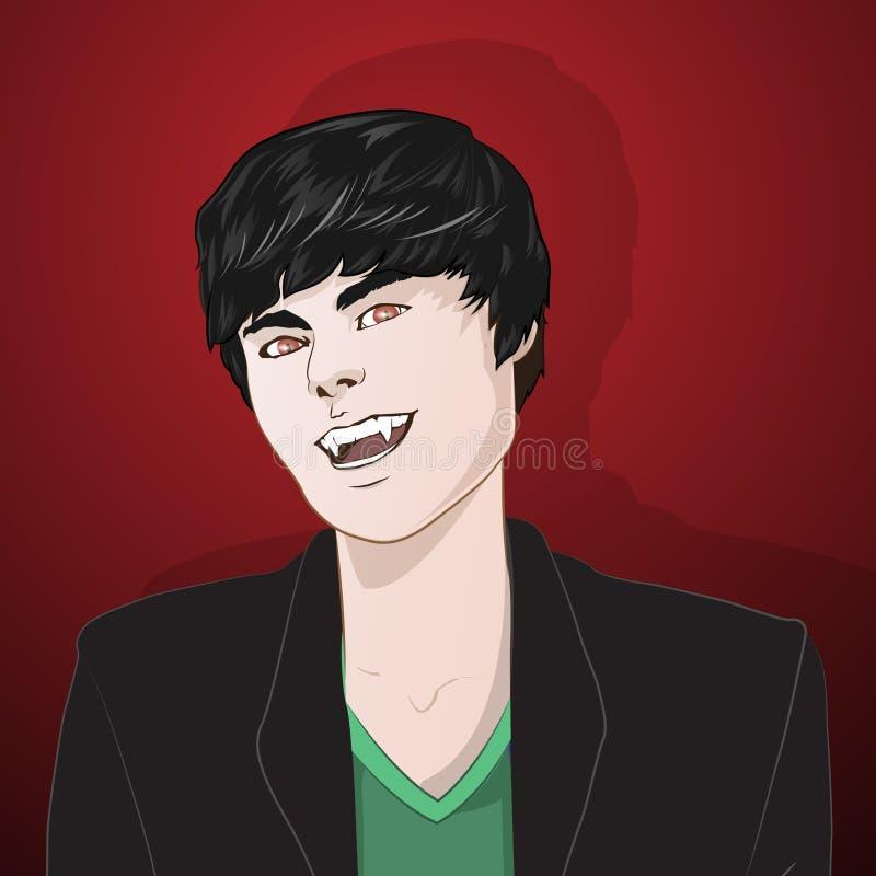 Ejemplo sonriente de la historieta del vampiro libre illustration