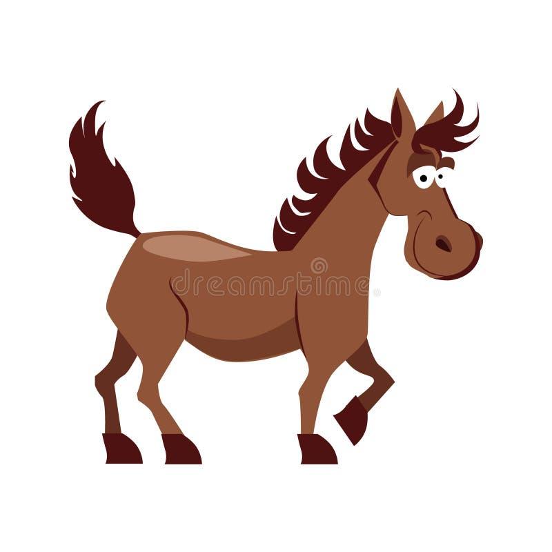 Ejemplo sonriente lindo del vector del caballo ilustración del vector