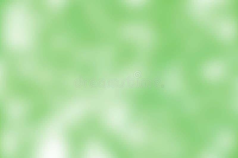 Ejemplo suave en colores pastel colorido borroso del fondo de la tonalidad del verde de la pendiente para el fondo de la publicid stock de ilustración