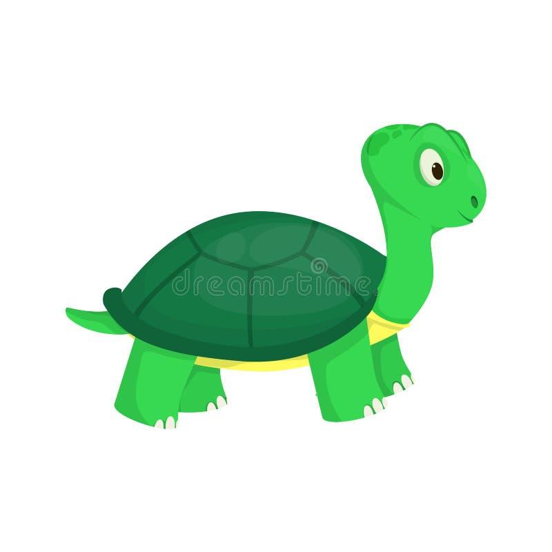 Ejemplo subacuático del vector del carácter del reptil del océano de la tortuga del verde de la naturaleza del mar animal de la f stock de ilustración