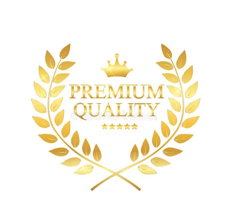 Ejemplo superior del vector de la escritura de la etiqueta de la calidad stock de ilustración