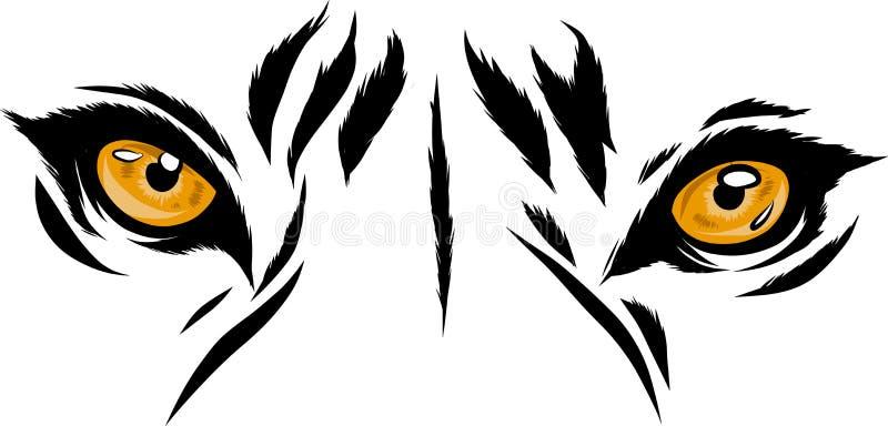 Ejemplo Tiger Eyes Mascot Graphic del vector en el fondo blanco ilustración del vector