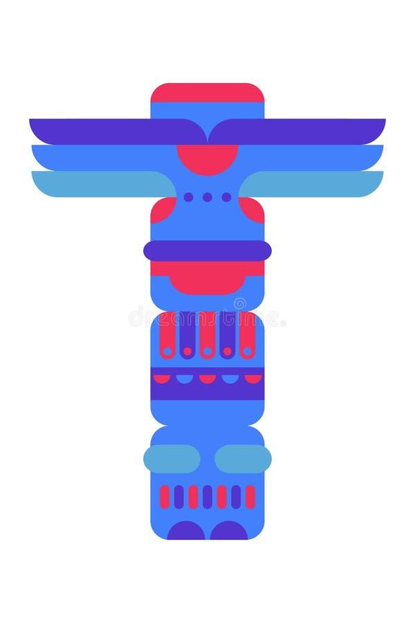 Ejemplo tradicional nativo del vector del tótem ilustración del vector