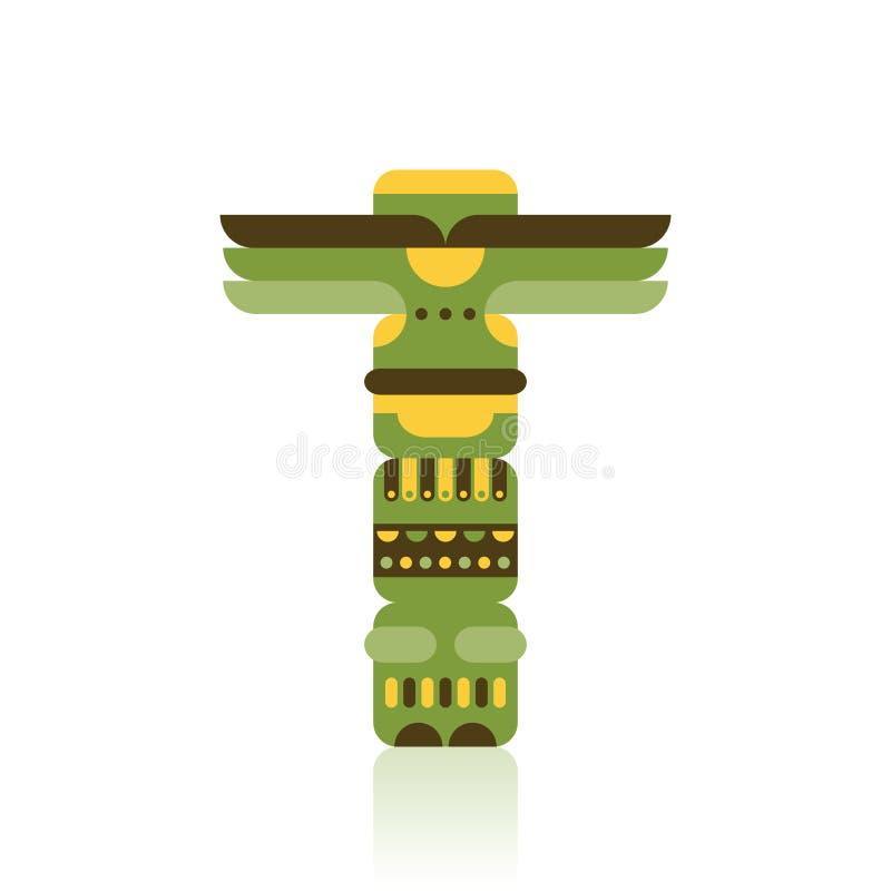 Ejemplo tradicional nativo del vector del tótem libre illustration