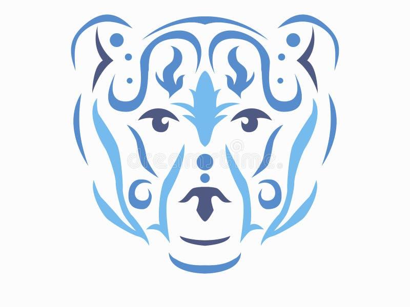 Ejemplo tribal del oso stock de ilustración