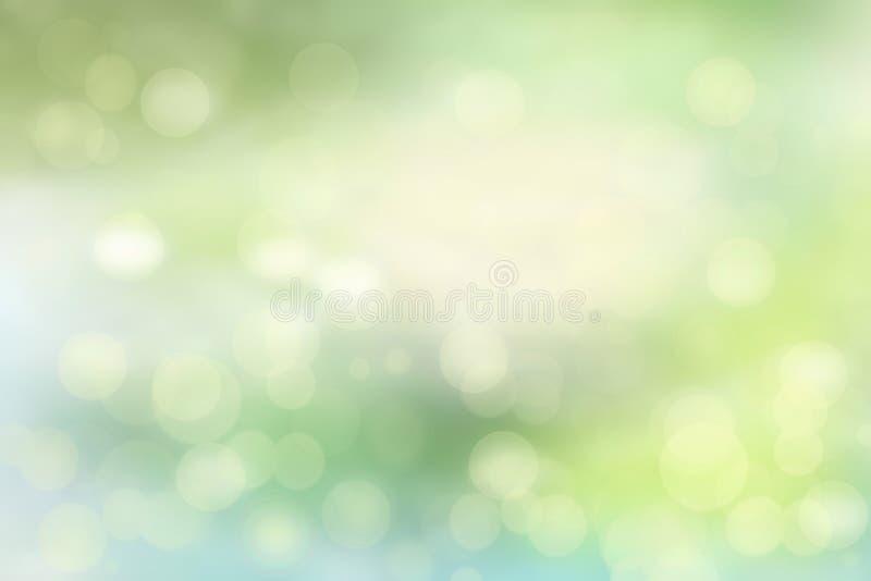 Ejemplo verde claro abstracto Fondo colorido verde claro y blanco lindo y delicado abstracto del bokeh del verano o de la primave libre illustration