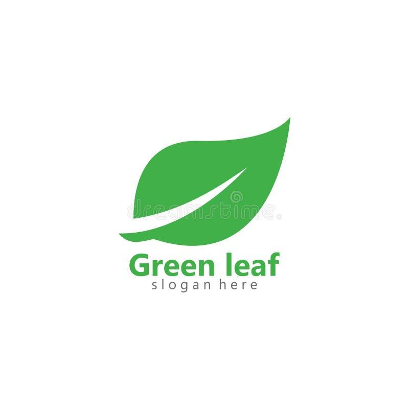 Ejemplo verde del icono del vector del logotipo de la hoja del eco ilustración del vector