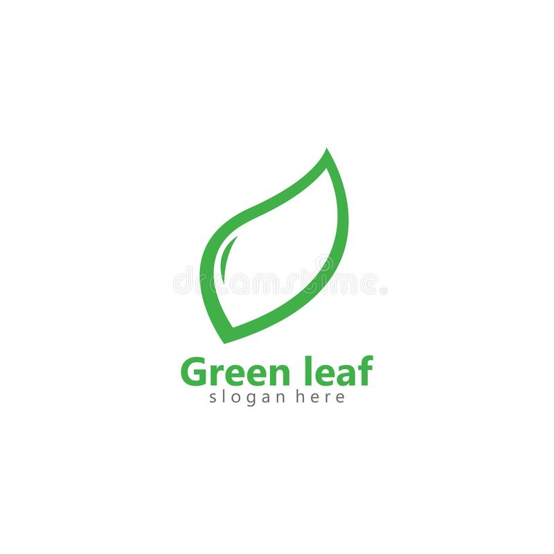 Ejemplo verde del icono del vector del logotipo de la hoja del eco stock de ilustración