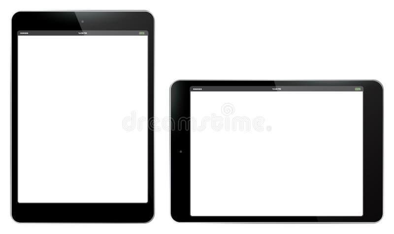 Ejemplo vertical y horizontal del Tablet PC del vector imagen de archivo libre de regalías