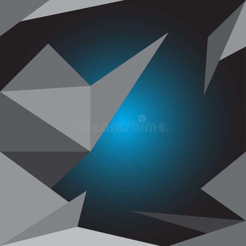 Ejemplos abstractos del vector del arte del pol?gono del fondo ilustración del vector