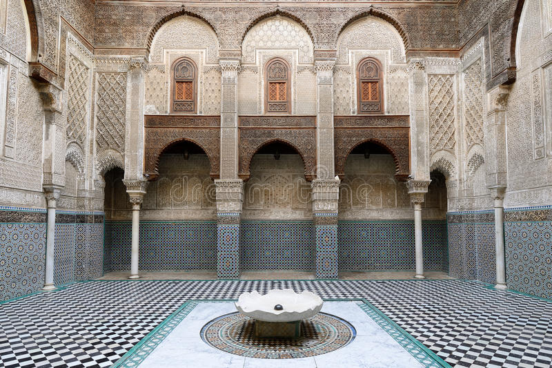 Ejemplos de la arquitectura marroquí fotografía de archivo libre de regalías