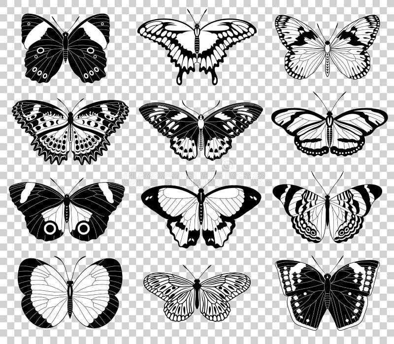Ejemplos de la mariposa del vector libre illustration