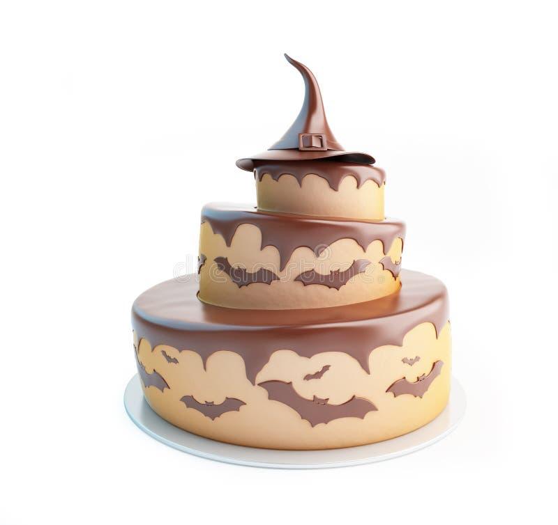Ejemplos de la torta 3d de Halloween libre illustration
