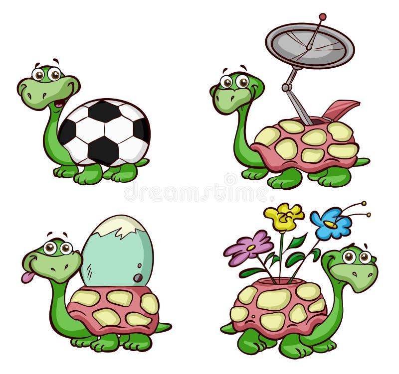 Ejemplos de las tortugas stock de ilustración