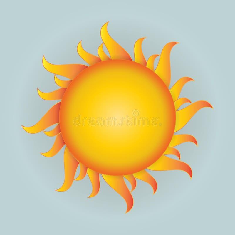 Ejemplos del icono del vector de Sun EPS 10 ilustración del vector