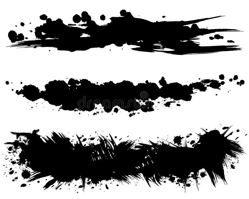ejemplos del movimiento del cepillo Formas dibujadas mano libre illustration