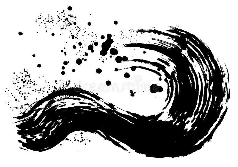 ejemplos del movimiento del cepillo Formas dibujadas mano stock de ilustración